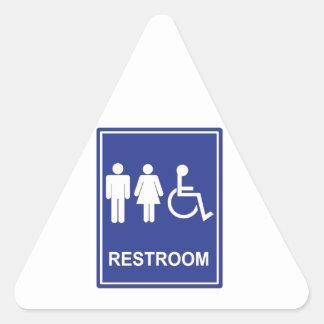 Unisex Handicap Restroom without Text Triangle Sticker