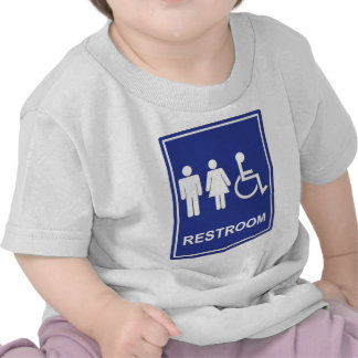 Unisex Handicap Restroom without Text Tee Shirts