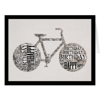 Unisex Happy Birthday Typography Bicycle Card