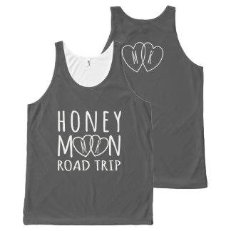 Unisex Honeymoon Road Trip Personalized Tank All-Over Print Tank Top