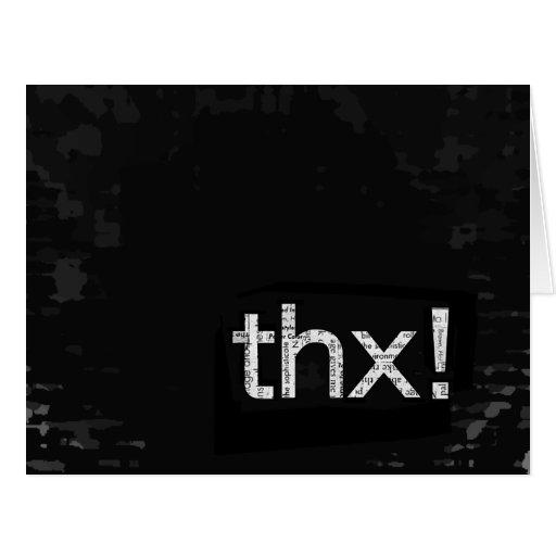 Unisex Newspaper Print Thank You Typography Card Zazzle