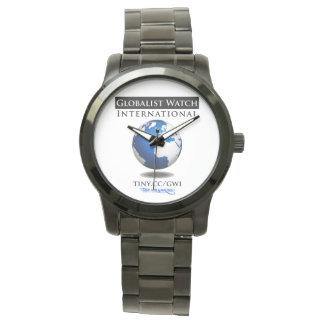 Unisex Oversized Black Bracelet Globalist Watch