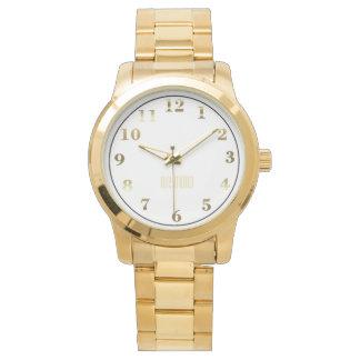 Unisex Oversized Gold Bracelet Watch/Gold Wristwatch