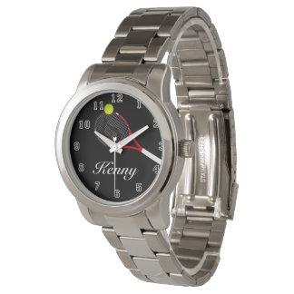 Unisex Oversized Silver Bracelet Tennis Wrist Watch