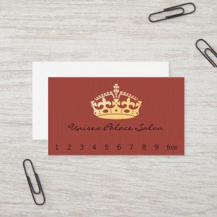 Unisex Palace Salon Jubilee Crown Business Card