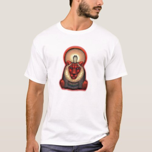 Unisex Sekhmet Dark T Organic Cotton 2 sided T_Shirt