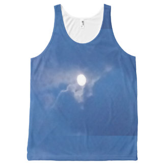 Unisex Tank Top with Full Moon Photography