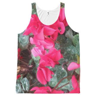 Unisex Tanktop tank top Flowers Florals All-Over Print Tank Top