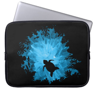 Unisex Turtle Coral Reef Silhouette Mens Womens Computer Sleeve