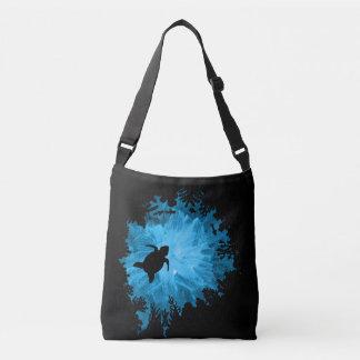 Unisex Turtle Coral Reef Silhouette Mens Womens Crossbody Bag