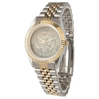 Unisex Two-Tone Bracelet Watch Kennedy 1967 Eagle