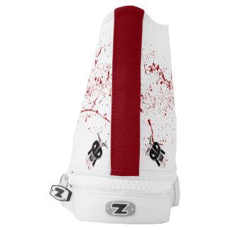 Unisex White blood splatter High Top Shoes