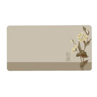 """""""Unísono floral blanco """" Etiqueta De Envío"""