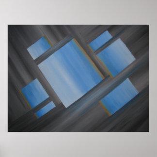 Unísono simétrico - impresión del arte de la pared poster