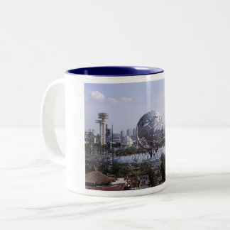 Unisphere, 1964 New York World's Fair Vintage Two-Tone Coffee Mug