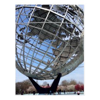 Unisphere, argumentos de la feria de mundo, postal