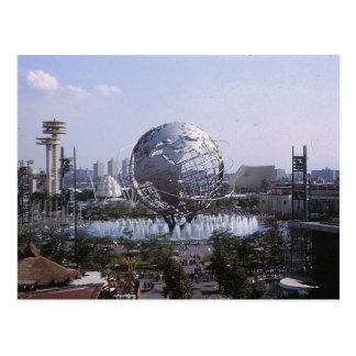Unisphere, vintage 1964 de la feria de mundo de postal