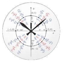 Unit Circle Math Geek Funny Nerd Student Large Clock