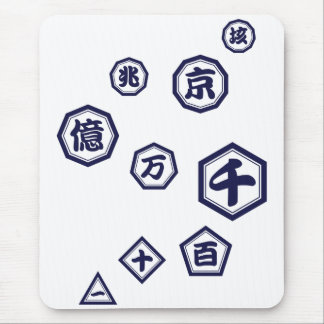 < Unit (dark blue purple) of number > Units of Mouse Pad