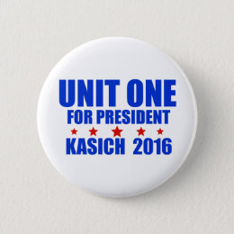 Unit One for President Kasich 2016 Pinback Button