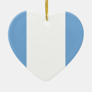 Unitarian Party (Navy), Argentina flag Double-Sided Heart Ceramic Christmas Ornament