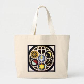 Unitarian Universalist Church Rockford, IL Large Tote Bag