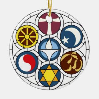Unitarian Universalist Merchandise Double-Sided Ceramic Round Christmas Ornament