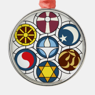 Unitarian Universalist Merchandise Round Metal Christmas Ornament
