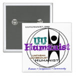 Unitarian Universalist (UU) Humanist 2 Inch Square Button