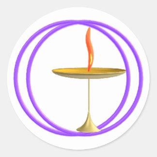 Unitarian universalista pegatina redonda