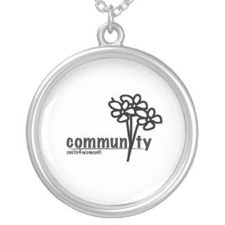 unite4women necklace, words of wisdom round pendant necklace