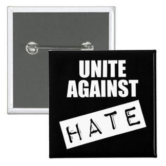 Unite Against Hate Pinback Button