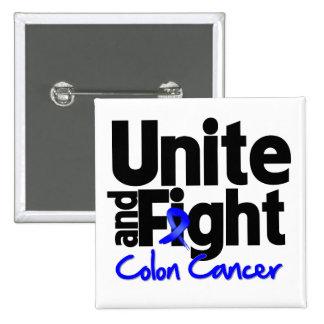 Unite and Fight Colon Cancer 2 Inch Square Button