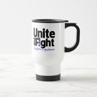 Unite and Fight Hodgkin's Lymphoma 15 Oz Stainless Steel Travel Mug