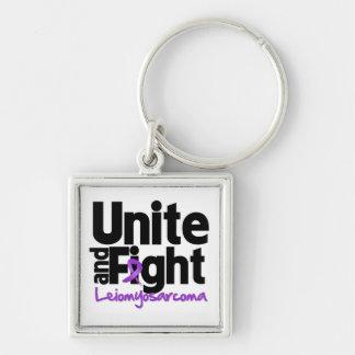 Unite and Fight Leiomyosarcoma Silver-Colored Square Keychain