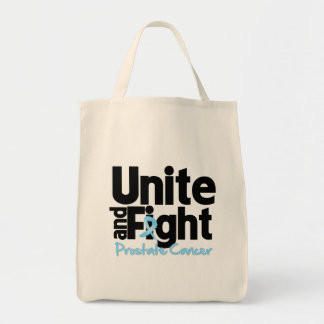 Unite and Fight Prostate Cancer Canvas Bags