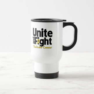 Unite and Fight Testicular Cancer 15 Oz Stainless Steel Travel Mug
