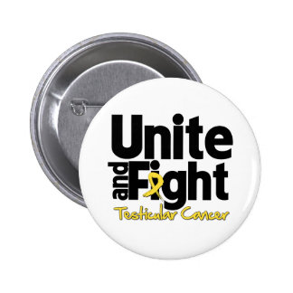 Unite and Fight Testicular Cancer 2 Inch Round Button