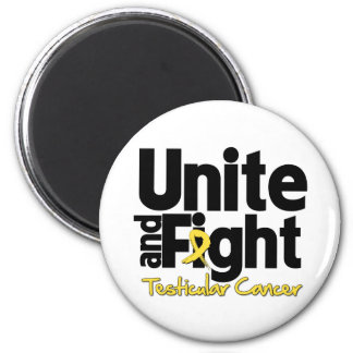 Unite and Fight Testicular Cancer 2 Inch Round Magnet