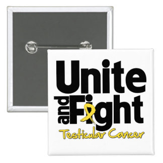 Unite and Fight Testicular Cancer 2 Inch Square Button