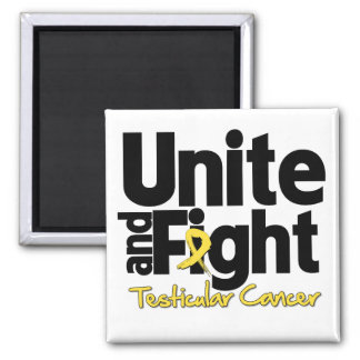 Unite and Fight Testicular Cancer 2 Inch Square Magnet
