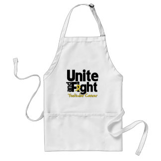 Unite and Fight Testicular Cancer Adult Apron