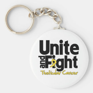 Unite and Fight Testicular Cancer Basic Round Button Keychain