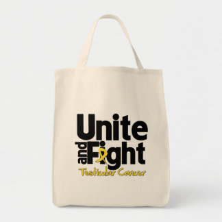 Unite and Fight Testicular Cancer Grocery Tote Bag
