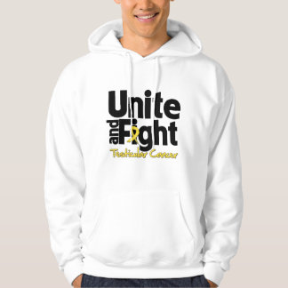 Unite and Fight Testicular Cancer Hooded Pullovers
