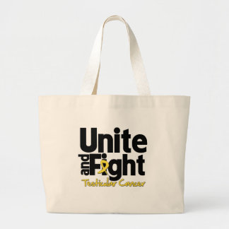 Unite and Fight Testicular Cancer Jumbo Tote Bag
