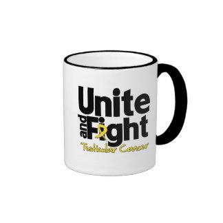 Unite and Fight Testicular Cancer Ringer Coffee Mug