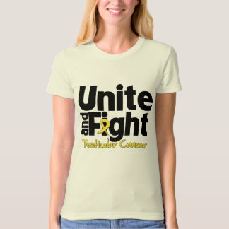 Unite and Fight Testicular Cancer T Shirt