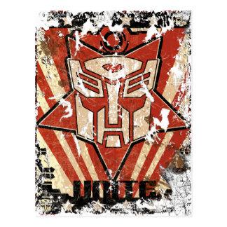Unite - Autobot Symbol Postcard