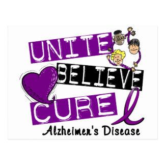UNITE BELIEVE CURE Alzheimers Disease Postcard